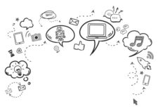 ilustración bocadillos comunicación